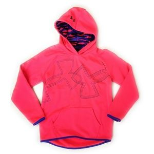 UNDER ARMOUR Youth Girls Pink Hoodie Sweatshirt M